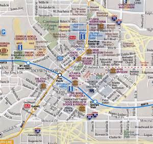 Atlanta Map by Map Of Atlanta Tourist Travel Holiday Map