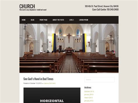 7 free wordpress church themes to upgrade your website