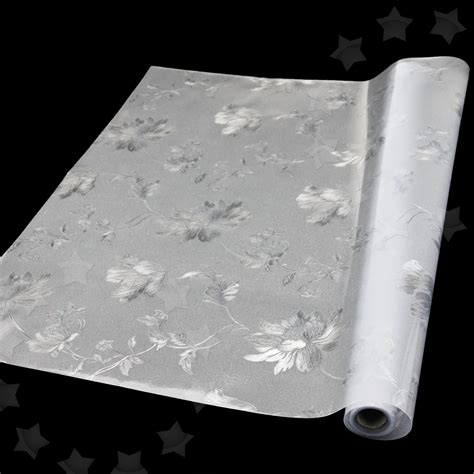 window glass cover 60 x 200cm flower frosted glass window cover privacy