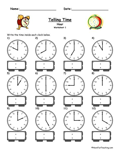 printable telling time sheets free 4 best images of printable clock worksheet telling time