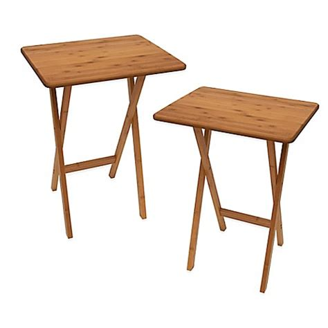 bed bath beyond folding table lipper bamboo folding snack tables set of 2 bed bath
