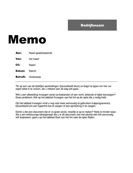 memo layout nederlands memo s office com