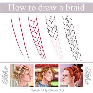 how to do doodle braids how to draw a braid