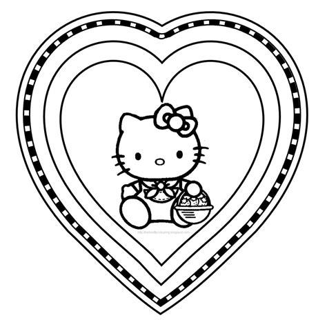 imágenes de kitty enamorada dibujo de hello kitty enamorada im 225 genes para pintar