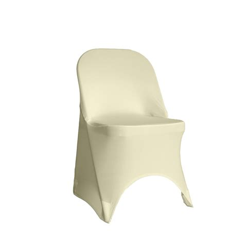 Covers For Folding Chairs by Spandex Folding Chair Cover Ivory Stretch By Yourchaircovers