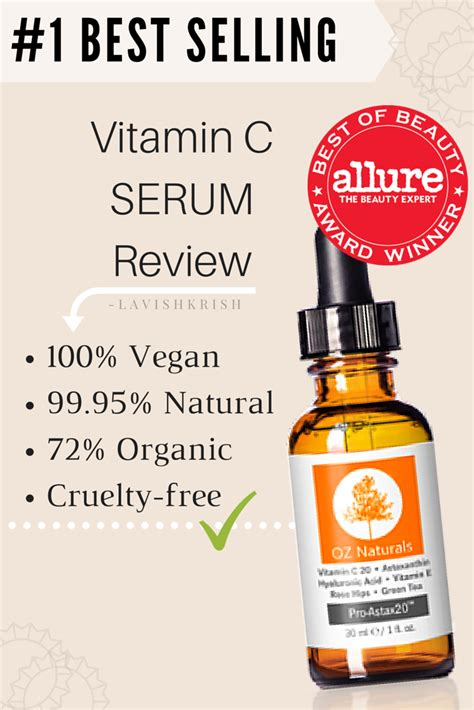 Serum I Vit C 1 best selling vitamin c serum by oz naturals review