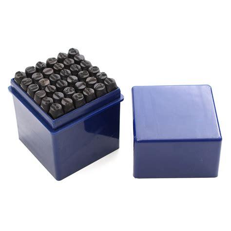 punzoni lettere 36pz 6mm punzoni in acciaio di lettere alfabeto numero