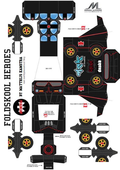 Boneka Batman Wb batmobile papercraft de mck paper fr
