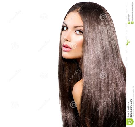 models with stright hair long healthy straight hair stock image image of luxury
