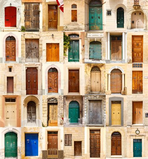 colorful doors collage stock photo image 41305174 collage of 35 colourful colored front doors stock image