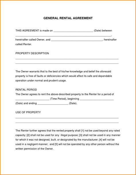 lease agreement template free free printable rental agreement lease agreement template