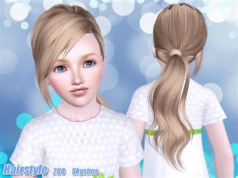 sims 4 kids hair skysims hair child 208 k ts3 cc pinterest hair and