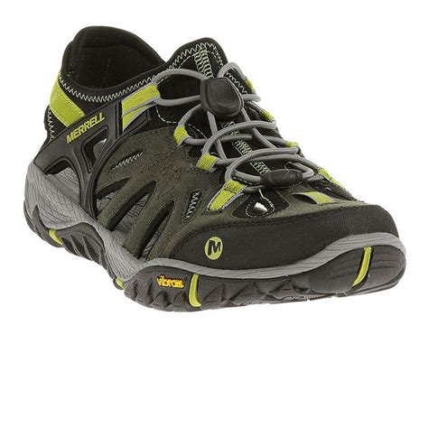 Summer Shoes by Merrell All Out Blaze Sieve Mens Green Hiking Walking