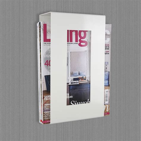 Magazine Wall Racks by Wall Mounted Magazine Storage Rack By The Metal House