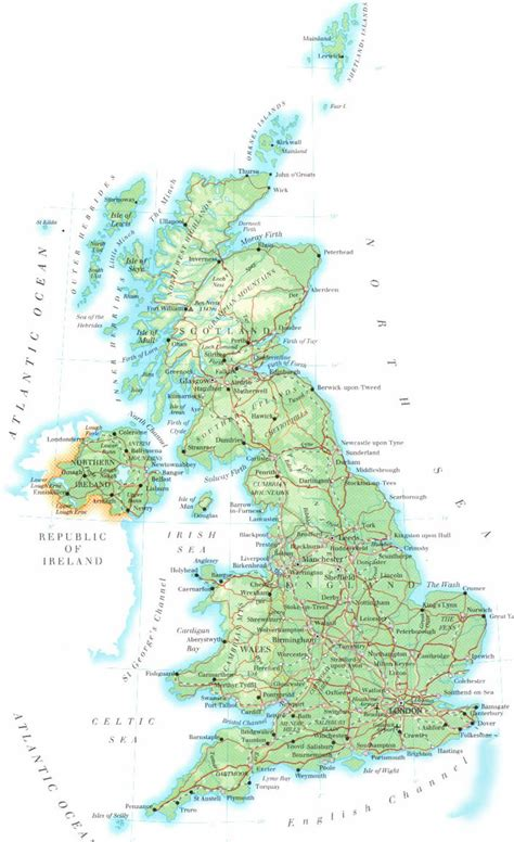 uk map maps europe map of uk united kingdom political