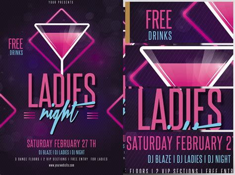 Free Ladies Night Flyer Template Psd