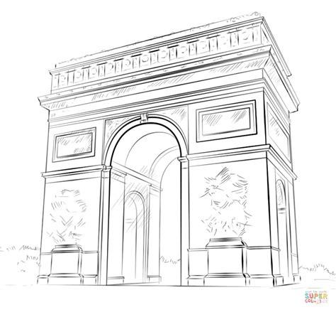 coloring pages of india gate coloriage arc de triomphe coloriages 224 imprimer gratuits