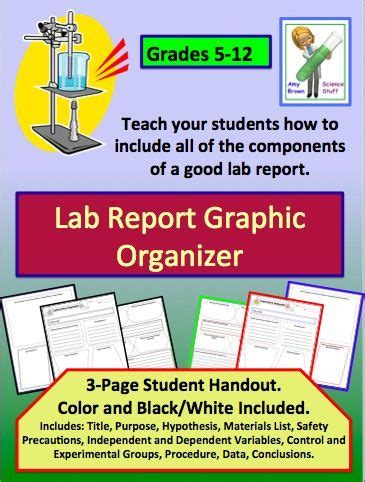 lab report graphic organizer graphic organizers labs