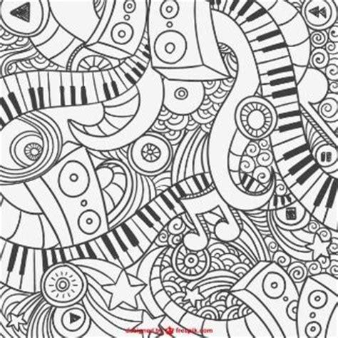 music mandala coloring pages m 225 s de 1000 ideas sobre piano teclado en pinterest