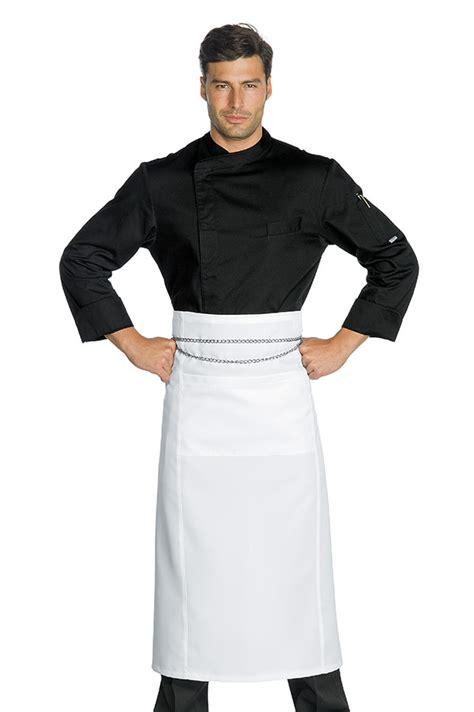 veste chef cuisinier suzuka microfibres noir