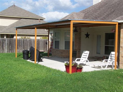 deck covers awnings custom steel patio cover awning new braunfels texas