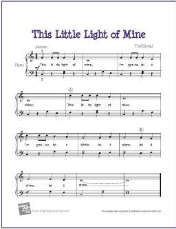 tutorial guitar mine this little light of mine free sheet music for easy