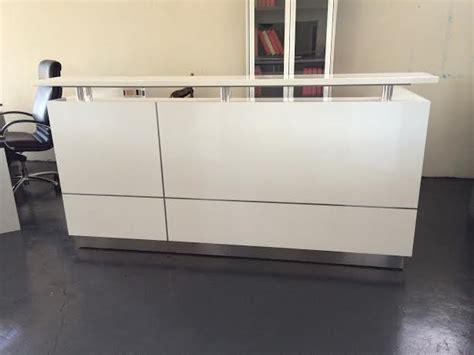 white reception desk for sale 1800w ariel reception desk white kenn office furniture