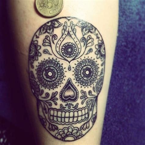 small sugar skull tattoo 138 cool sugar skull tattoos