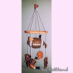 Football Crib Mobile by Z With Balls On Cleveland Browns