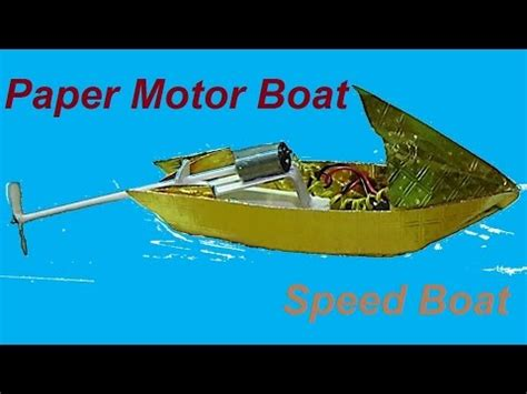 how to make a paper speed boat that floats in water how to make a paper speed boat youtube