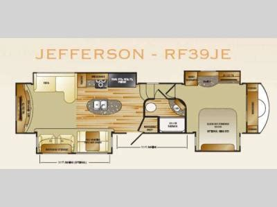 rushmore rv floor plans used 2013 crossroads rv rushmore jefferson rf39je fifth