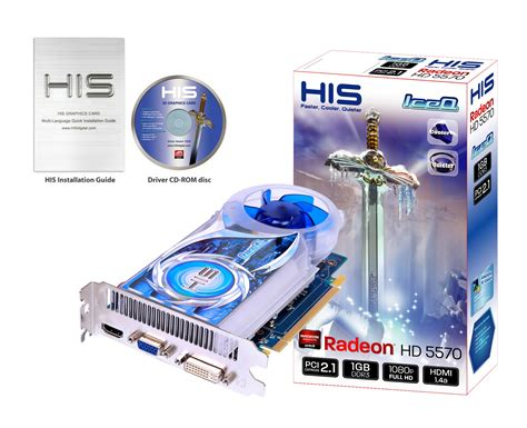 Vga Card Hd 5570 1gb Ddr3 128 Bit His 5570 Iceq 1gb Ddr3 Pci E Dvi Hdmi Vga