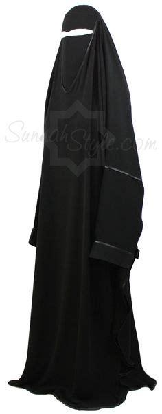 Abaya Kombi Satin by Lang Niqab Khimar Kombi Gesichtsschleier