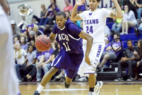 College Basketball Letterwinner Abilene Christian Athletics Bad Day For Knights As Wildcats Roll To 83 48 Victory