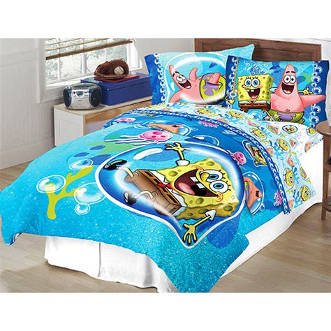 spongebob bedding set twin full comforter sham