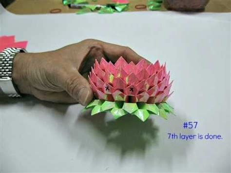 3d Origami Lotus Flower Tutorial - how to make an origami lotus 2nd version 折纸莲花