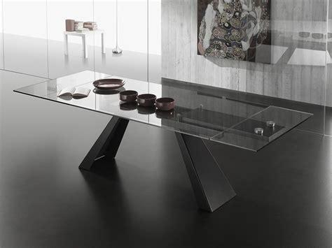 tavoli da pranzo in vetro allungabili tavolo allungabile in vetro con gambe in metallo nearly