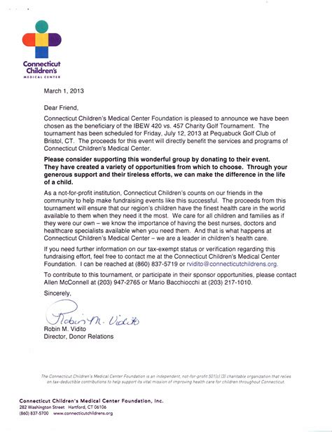charity sponsorship letter 7th annual ibew local 420 vs 457 charity golf tournament
