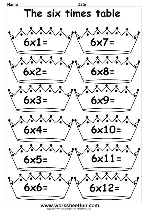 printable multiplication table for grade 2 3rd grade math multiplication times tables 1 s printable