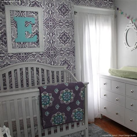 room stencils 5 baby room d 233 cor accent walls ideas with nursery stencils