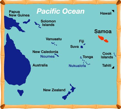 where is samoa on the map where is samoa