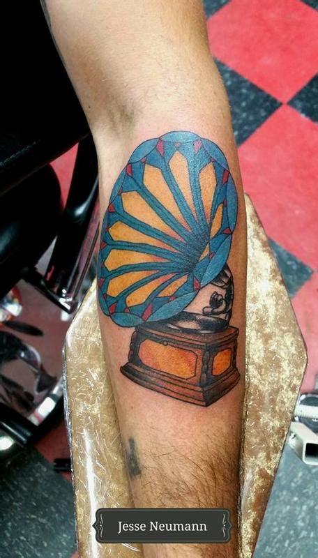phonograph tattoo phonograph by neumann tattoonow