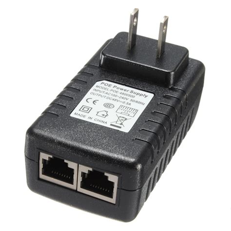 Adaptor Poe buy 48v 0 5a poe injector power ethernet adapter for