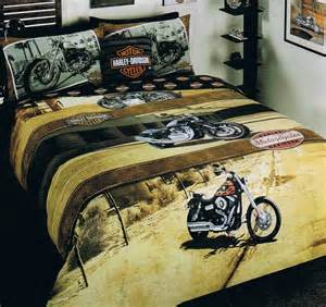 harley davidson quot harley sunset quot bed quilt
