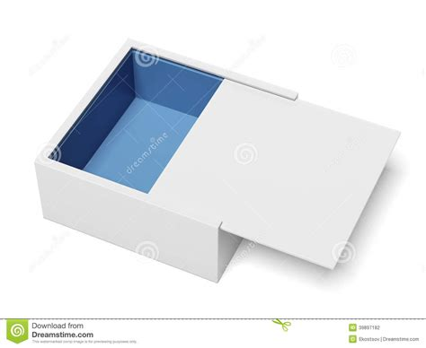 business card template package white package cardboard sliding box opened stock