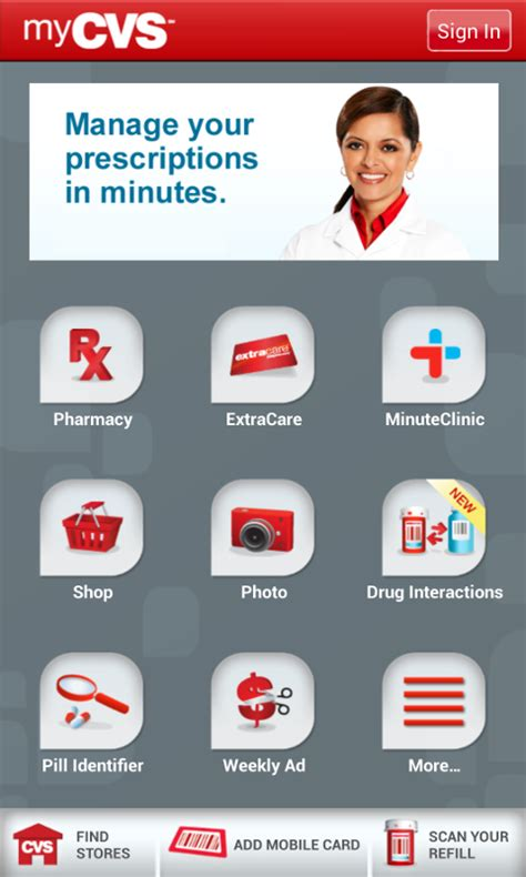 cvs pharmacy app for android cvs pharmacy screenshot