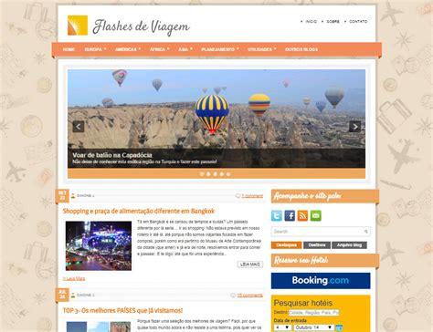 layout blog viagem o flashes de viagem t 225 de cara nova flashes de viagem