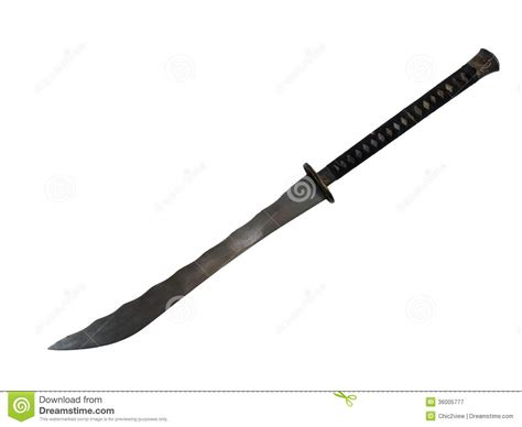 japan bid big sword isolate stock image image of guard handle