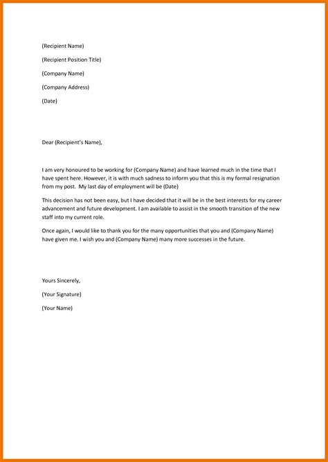 Business Letter Layout Nz resignation letter template nz best business template