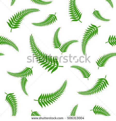 pattern making new zealand green fern leaves seamless pattern vector illustration